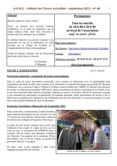 Bulletin n° 44, septembre 2012 - Les associations - Villenave d'Ornon
