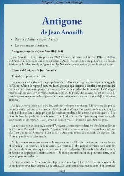 pdf antigone jean anouilh text pdf 28 pages which methods