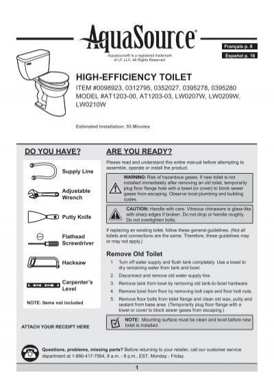 toilet bowl installation instructions