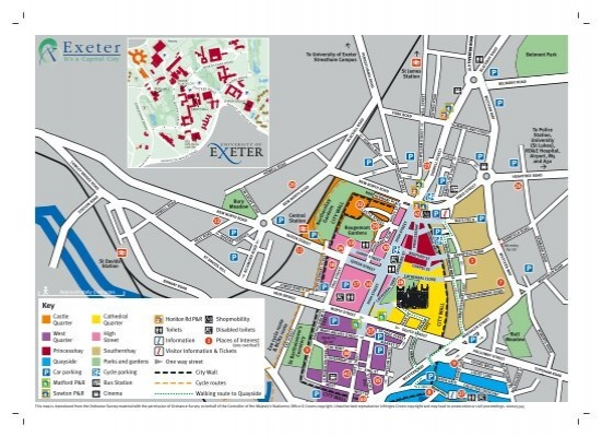 Exeter City Centre Map Exeter City Council