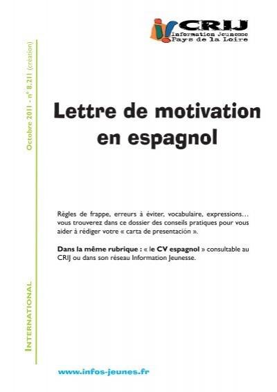 lettre de motivation en espagnol