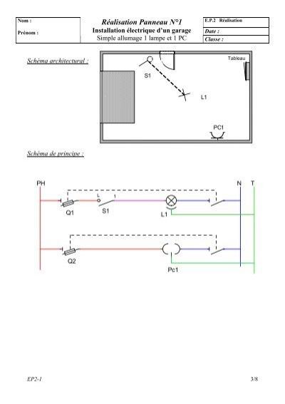 Sch ma multifilaire pc - Schema simple allumage ...