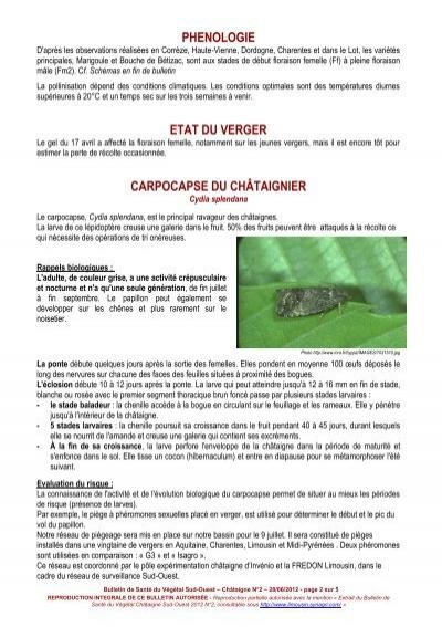 Phenologie d 39 apr s les o for Chambre d agriculture haute vienne