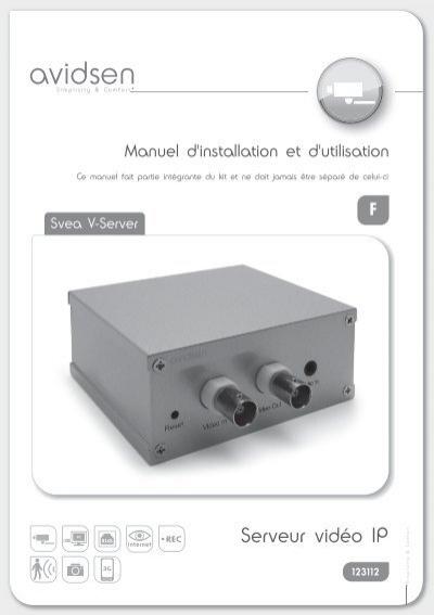 Serveur vid o ip avidsen for Manual avidsen espanol 114452