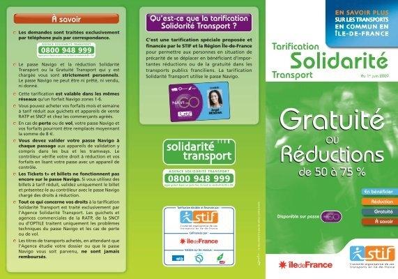 Guide Tarification Solidarita C Transport Ville De Stains