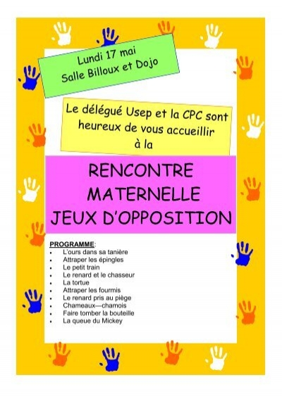 Rencontres usep maternelle