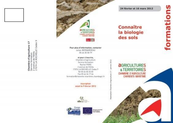 Formations La Chambre DAgriculture De CharenteMaritime - Chambre agriculture charente maritime