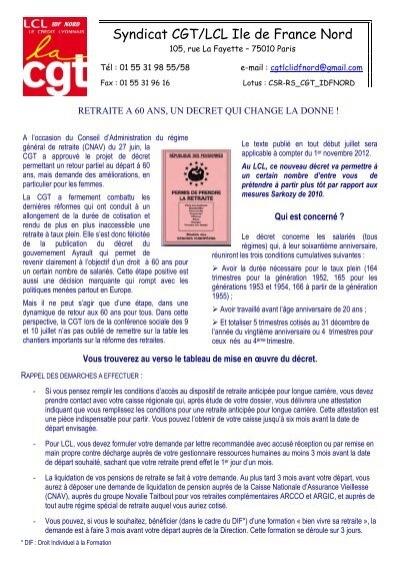 Tract Retraite Suite Nouveau Decret 3 Cgt Lcl
