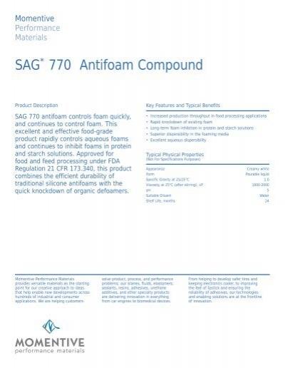 SAG 770 Antifoam Compound - Anshul Life Sciences