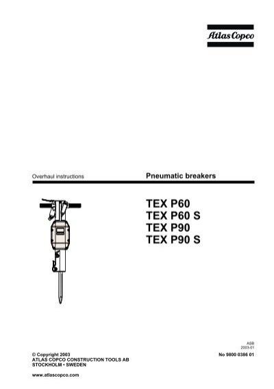 Atlas copco 2017 tex p90 90 lb pneumatic jack hammer heavy breaker.