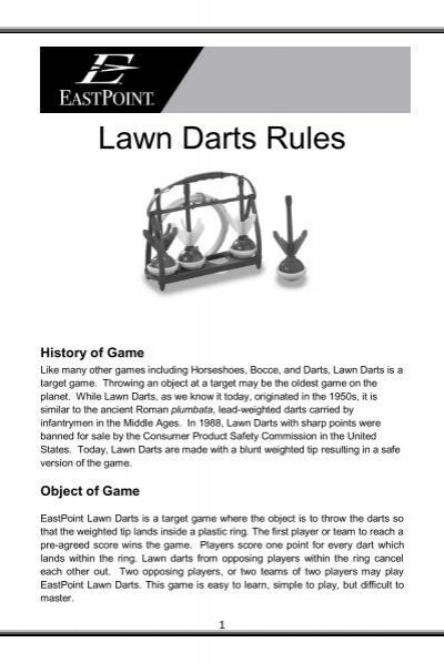 Lawn Darts Rules