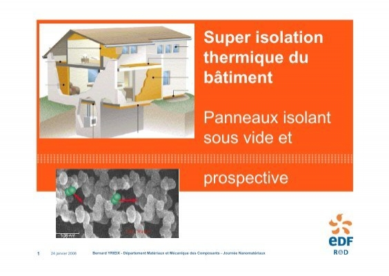 super isolation thermique du b timent panneaux isolant sous vide. Black Bedroom Furniture Sets. Home Design Ideas