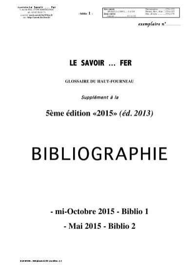 1 Biblio Le Savoir Fer Free