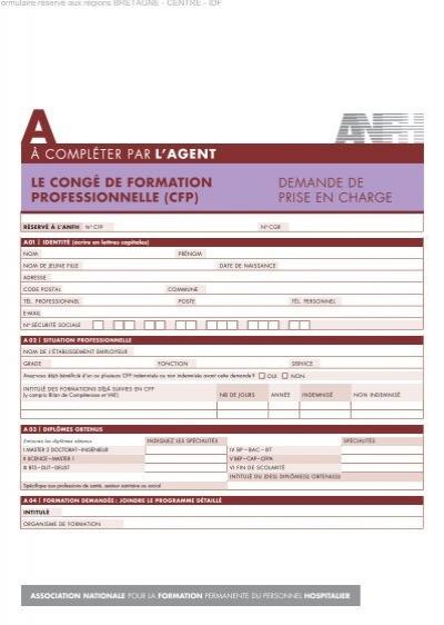 89db942ea47 LE CONGÉ DE FORMATION PROFESSIONNELLE (CFP) - Anfh