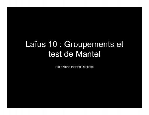 Mantel test deutsch