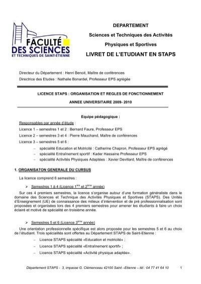 Livret ã Tudiant Pdf Universitã Jean Monnet
