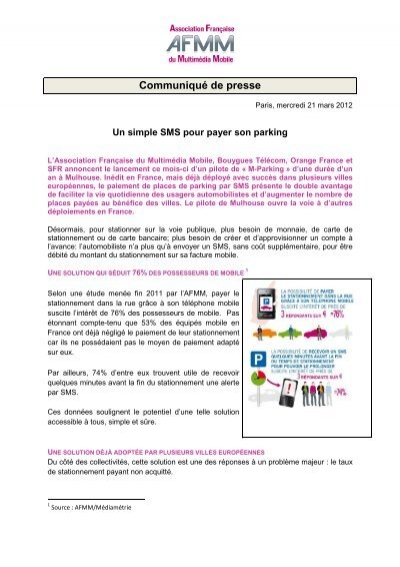 Carte Bancaire Om.Un Simple Sms Pour Payer Son Parking Afmm