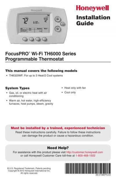 69 2738efs 03 focuspro wi fi th6000 series honeywell rh yumpu com honeywell focuspro th6000 installation manual honeywell focuspro th6000 user guide