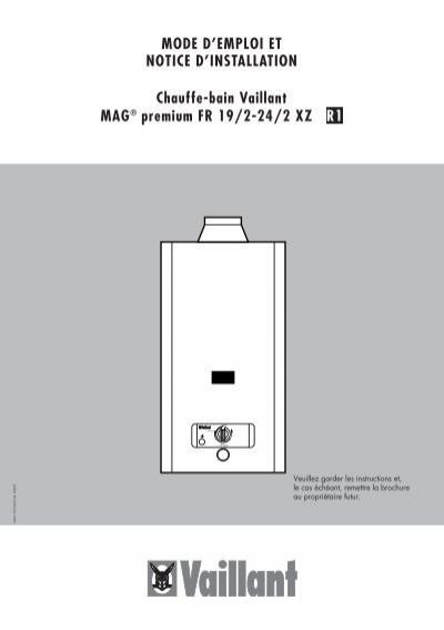 mag premium fr 19 24 xz notice installation et vaillant. Black Bedroom Furniture Sets. Home Design Ideas