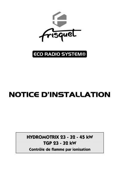 Notice eco radio system for Frisquet prestige eco radio system
