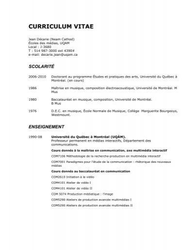 cv exhaustif en pdf