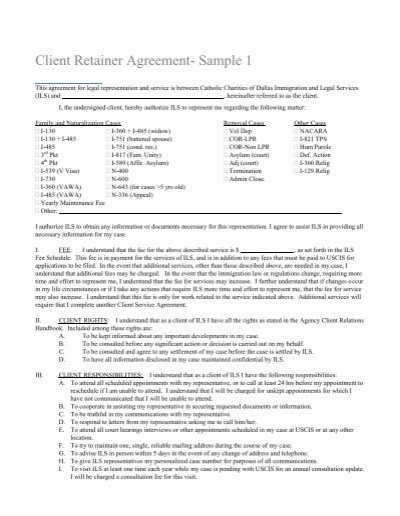 retainer agreement template uk - client retainer agreement sample 1 catholic legal