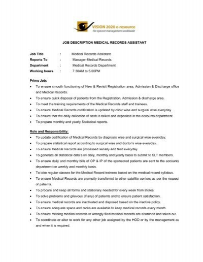 Job Description Office Assistant  School  Junior