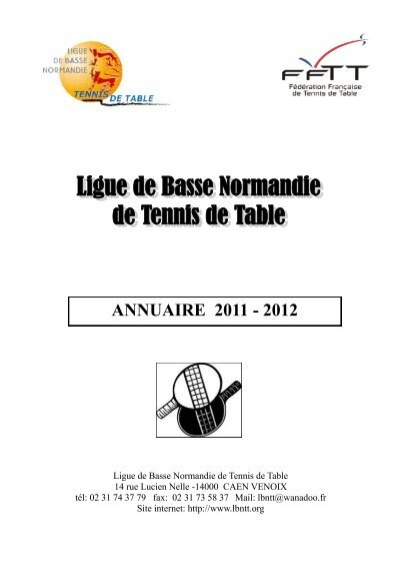 Ligue de basse normandie de tennis de table ligue de basse - Ligue basse normandie tennis de table ...