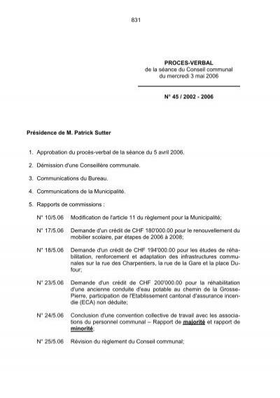 2006 Presidence De M Patrick Sutter Morges