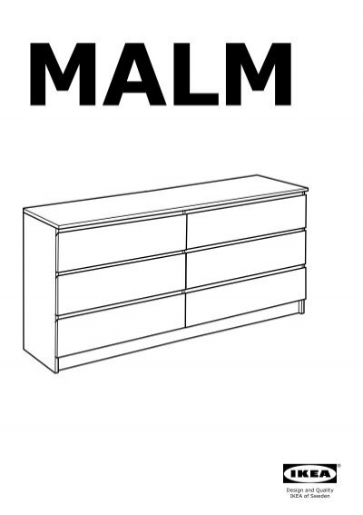 ikea malm commode 6 tiroirs 70103349 plan s de montage. Black Bedroom Furniture Sets. Home Design Ideas