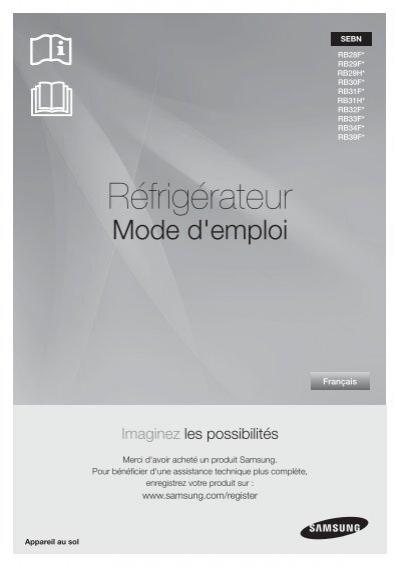 samsung rb33j3200sa rb33j3200sa ef manuel de l. Black Bedroom Furniture Sets. Home Design Ideas