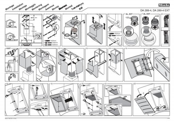 miele csda 1030 plan de montage. Black Bedroom Furniture Sets. Home Design Ideas