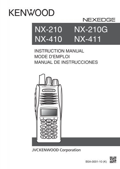 kenwood nx 410 communications english french spanish instruction rh yumpu com Kenwood Portable Two-Way Radios kenwood nexedge nx-210 manual