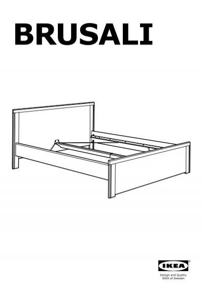 Ikea Brusali Cadre De Lit 2bo Icirc Tes De Rangement S69222744
