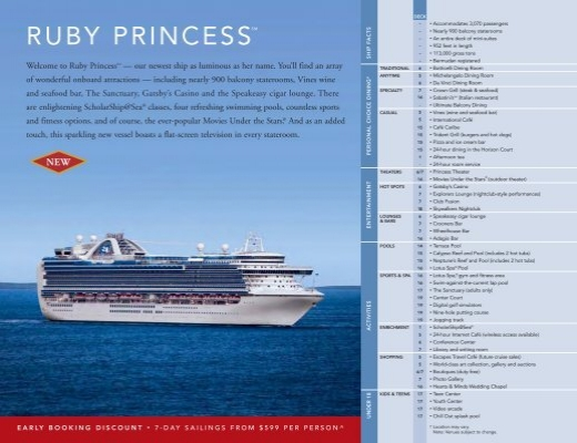 Ruby Princess Deck Plans - Beyond Ships