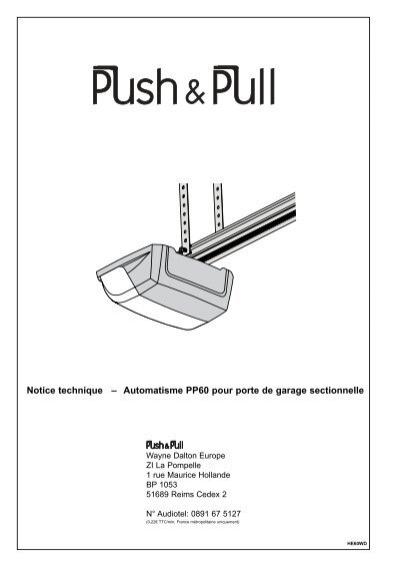 notice technique  u2013 automatisme pp60 pour porte