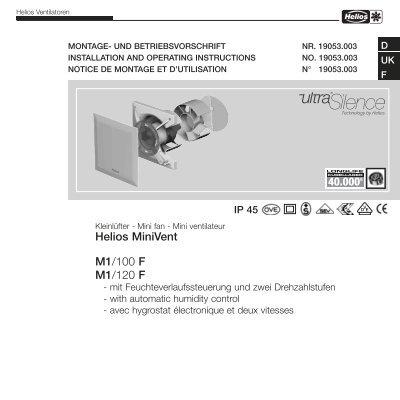 helios minivent m1 100 f m1 120 f helios ventilatoren. Black Bedroom Furniture Sets. Home Design Ideas