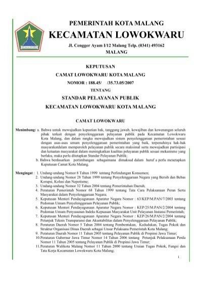 Kecamatan Lowokwaru Pemerintah Kota Malang