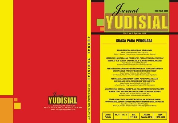 Jurnal Agustus 2012 Komisi Yudisial