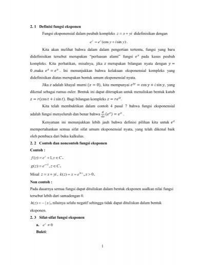 Sejarah relasi dan fungsi 1 definisi fungsi eksponen fungsi eksponensial dalam peubah ccuart Gallery
