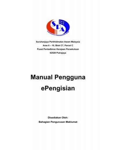 Manual Pengguna Epengisian Spa Malaysia