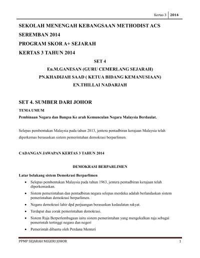 Kertas 3 Johor 2014