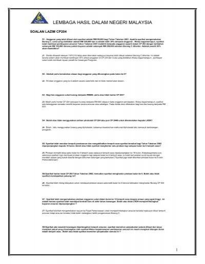 Borang Cp204 Lembaga Hasil Dalam Negeri