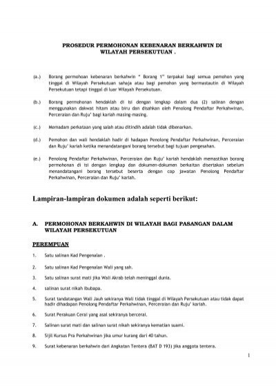 Prosedur Kahwin 2 Pdf Jabatan Agama Islam Wilayah Persekutuan