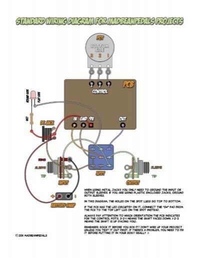 standard wiring diagram madbean pedals rh yumpu com standard wiring colors standard wiring diagram symbols