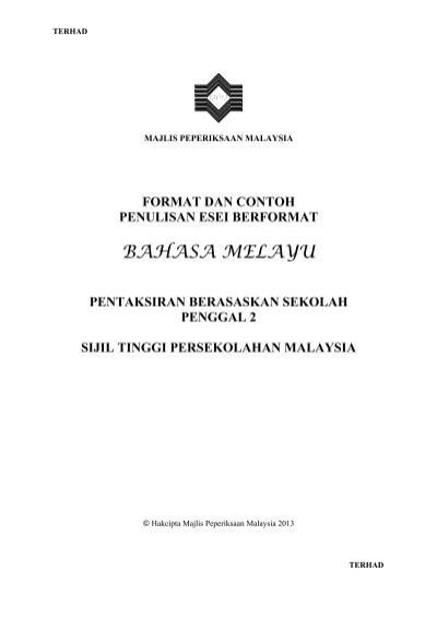 Format Esei Bahasa Melayu 9104 Program Persediaan Universiti