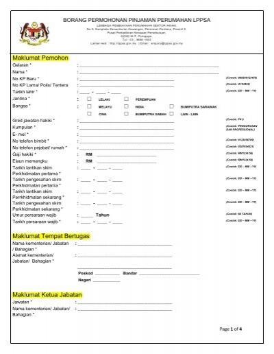 Borang Manual Lppsa 1