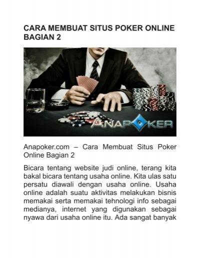 Cara Membuat Situs Poker Online Bagian 2