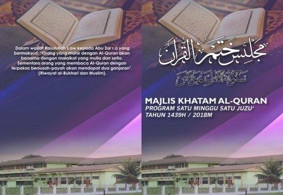 Program Khatam Al Quran 1m1j Pagi