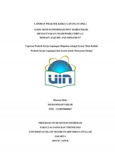 Laporan Pkl Muhammad Faikar Si14